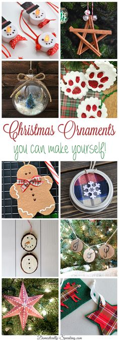 Some great DIY Christmas Ornaments that you can make yourself! They are great for your own tree or you can make them as a gift!