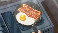 Let's take a moment to appreciate the beauty of anime food. Anime Gifs, Anime W, Kawaii Anime, Anime Backgrounds Wallpapers, Anime Scenery Wallpaper, Aesthetic Gif, Aesthetic Food, Whats Wallpaper, Anime Bento
