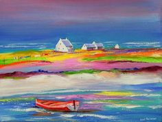 Original oil painting by CAPE TOWN artist : Louis Pretorius , (SOUTH AFRICA)dimensions: x unframed. Boat Painting, Painting & Drawing, Beach Paintings, Red Art, Colorful Pictures, Artist At Work, Oil On Canvas, Modern Art, Saatchi Art