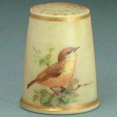 Antique Hand Painted Royal Worcester Porcelain Blush Thimble w Bird c1870 90 | eBay  Aug 13, 2013 / US $152.50 / 5,011.50 RUB