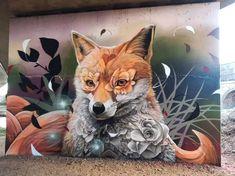 """Curtis Hylton, """"Floral fox"""" in Reading, UK, 2021"""