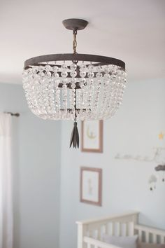 Traditional Nursery Tour Traditional Nursery Tour Makely Ideas Supplies to DIY for wearemakely DIY Nursery Lighting Ideas style me pretty traditional nbsp hellip Nursery Chandelier, Nursery Lighting, Restoration Hardware Nursery, Guest Room Decor, Baby Bedroom, Girls Bedroom, Bedrooms, Nursery Inspiration, Nursery Ideas