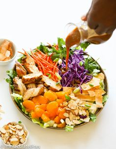 Homemade Chinese chicken salad with a lighter and healthier touch. Crispy crunchy serve with a lip smackingly delicious Almonddressing. The following recipe, is my lightened up version of Chinese chicken salad served at a restaurant I used to work at . A very simple and popular dish – a big seller for the restaurant and …