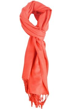 Solid Coral Pink Pashmina