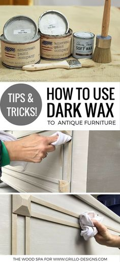A diy tutorial on how to use dark wax to antique furniture
