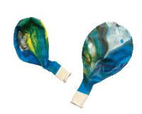 Use multicoloured balloons to give a feel of being in outer space.