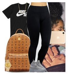 """""""Untitled #1065"""" by msixo ❤ liked on Polyvore featuring NIKE, MCM, Yummie by Heather Thomson, Bianca Pratt and Rolex"""
