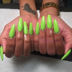 Stiletto Nails, Coffin Nails, Acrylic Nails, Dope Nails, Fun Nails, Glam Nails, Lime Green Nails, Fabulous Nails, Trendy Nails
