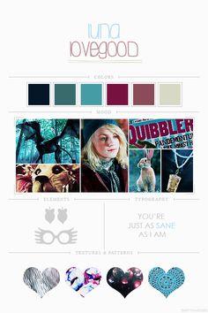 EmptyFantasies' Character Mood Boards - 7/?Luna Lovegood - Harry Potter Series