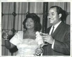 Mahalia Jackson And Her Husband | ... Press Photo Minters Sigmund Galloway Singer Mahalia Jackson Husband