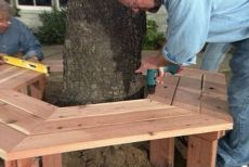 1000 ideas about bench around trees on pinterest tree bench tree seat and - Fabriquer table picnic ...