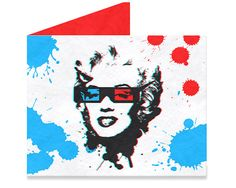 Movies Pattern driven bowtie designer Aleksandar Topić, merges his love of pop art and movie icons. Tyvek Wallet, Mighty Wallet, Best Wallet, Single Sheets, Iconic Movies, Marilyn Monroe, Stocking Stuffers, Pop Art, Cool Designs