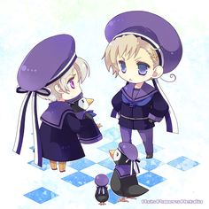 Iceland and Norway with Chibi! Nordics Hetalia, Hetalia Funny, Hetalia Fanart, Sad Anime, Cute Anime Boy, Anime Boys, Baka And Test, Dennor, Hetalia Characters