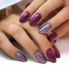 Color purple Trendy Manicure Ideas In Fall Nail Colors;Purple Nails; Trendy Manicure Ideas In Fall Nail Colors;Purple Nails; Fall Gel Nails, Cute Nails For Fall, Short Gel Nails, Fun Nails, Autumn Nails, Nail Ideas For Fall, Nail Color Trends, Fall Nail Colors, Nail Polish Colors
