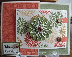 Here's my card for MFP Speedy Fox & Friends challenge which is to make a joy-fold card. I'm also entering this into the OWH Stars an. Scrapbook Supplies, Scrapbook Cards, Paper Embroidery, Embroidery Stitches, Joy Fold Card, Spirograph, Some Cards, Unique Cards, Flower Cards
