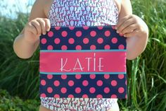Made from durable polyester fabric with zipper closure. Bag has an interior zippered compartment and design is printed on both sides. These make fantastic gifts and are perfect for backpacks or suitcases. A great way to organize markers, crayons, small toys or toiletries - these will make packing a breeze for your kids and they will love having something with their own name on it!
