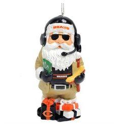 Chicago Bears Coach Santa Gnome Ornament