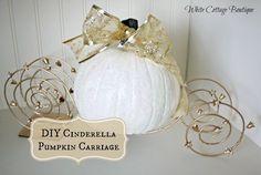 DIY Cinderella Pumpkin Carriage by WhiteCottageBoutique.com