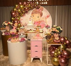 Encanto de festa com o tema Bailarina! Ballerina Birthday Parties, Ballerina Party, Girl Birthday, Ballerina Cookies, Balloon Crafts, Childrens Party, Birthday Decorations, Party Planning, Balloons