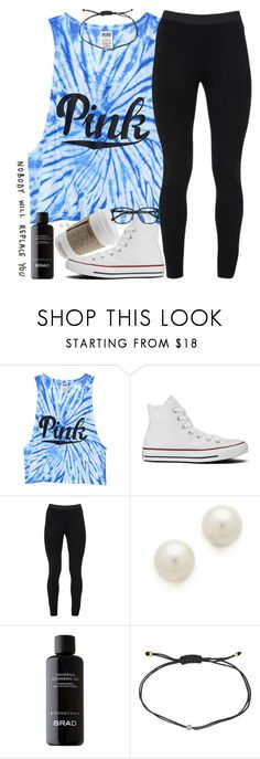 Cant keep my earrings in because of cheer by southernstruttin ❤ liked on Polyvore featuring Victorias Secret PINK, Converse, Peace of Cloth, Kenneth Jay Lane, Melissa Joy Manning and Ace