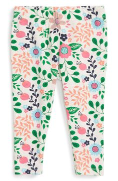 Tucker + Tate Tucker + Tate Floral Print Leggings (Baby Girls) available at #Nordstrom