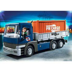 Playmobil City Action Ciężarówka z kontenerem, 5255, klocki