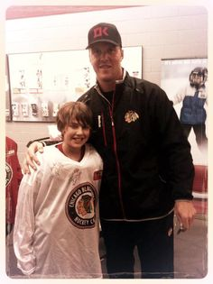Bryan Bickell dropped by a #Blackhawks Youth Hockey Camp yesterday.
