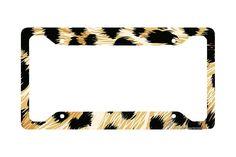 Airstrike® Cheetah License Plate Frame, Cheetah Car Tag Frame, Cheetah License Plate Holder, Cute Cheetah Print License Plate Frame-30-272