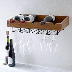 Rustic Wine Shelf #westelm