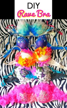 This is no ordinary bra, a DIY rave bra is perfect for festivals as it's decorated to a tee. These are the best DIY ideas to create a cute look! Rave Bodysuit, Music Festival Outfits, Music Festivals, Diy Festival Clothes, Festival Clothing, Rave Costumes, Burlesque Costumes, Diy Bra, Rave Gear