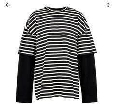j 'archive' Embroidered Stripe Oversized Long Sleeve T-shirt Long Sleeve And Shorts, Striped Long Sleeve Shirt, Long Sleeve Shirts, Teen Fashion Outfits, Cool Outfits, Men's Fashion, Fashion Clothes, Fashion Hacks, Fashion Ideas