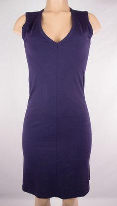 ANN DEMEULEMEESTER Dress Sz 38 S Tank Purple Cotton #AnnDemeulemeester #ShirtDress #Casual