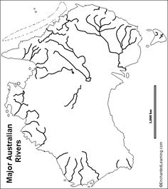 Outline map answers rivers of asia enchantedlearning outline map australian rivers a collection of geography pages printouts and activities for students gumiabroncs Image collections