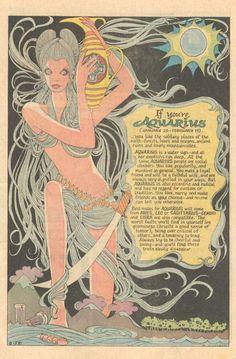 the aries horoscope Aquarius Art, Age Of Aquarius, Aquarius Horoscope, Zodiac Art, Zodiac Signs, Aries Zodiac, Aquarius Aesthetic, Hippie Art, Vintage Comics