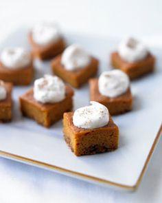 low cal pumpkin pie squares