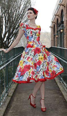 Womens Teens Sewing Pattern 1950s Swing Gathered Skirt Dress Tia Sew Chic 1312. $18.95, via Etsy.