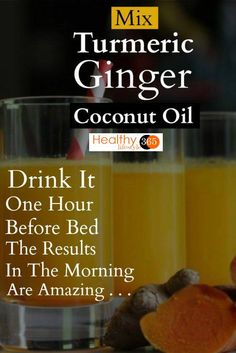 Mix Turmeric, Ginger And Coconut Oil And Drink It One Hour Before Bed! The Results In The Morning Are Amazing! Mix Turmeric, Ginger And Coconut Oil And Drink It One Hour Before Bed! The Results In The Morning Are Amazing! Detox Drinks, Healthy Drinks, Healthy Tips, Healthy Snacks, Healthy Junk, Herbal Remedies, Health Remedies, Psoriasis Remedies, Health And Fitness