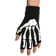 Hot Topic Skeleton Fingerless Gloves (21 RON) ❤ liked on Polyvore featuring accessories, gloves, skeleton, emo, hot topic, black, fingerless gloves, skeleton fingerless gloves and skeleton gloves