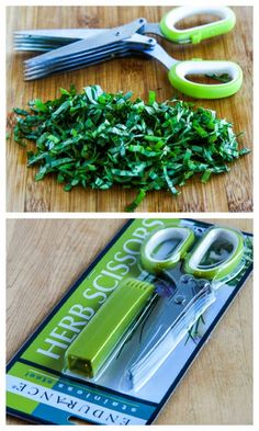 Kalyn's Kitchen Picks:  Herb Scissors; you NEED these if you're growing fresh herbs!  [from KalynsKitchen.com]
