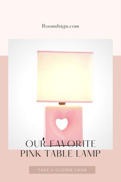 Browse our favorite chic and cute pink table lamp. Rose Gold Lamp, Rose Gold Table, Pink Table, Table Lamps For Bedroom, Bedroom Decor, Rose Gold Bedroom Accessories, Small Desk Lamp, Gold Desk, Pink Furniture