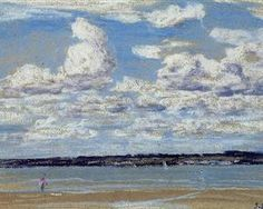 """Eugene Boudin (French, 1824-1898) """"An Estuary in Brittany"""""""