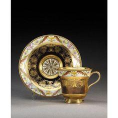 Paris porcelain cabinet cup and saucer