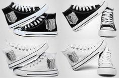 Look at this!  Attack on Titan Shingeki No Kyojin Jiyu No Tsubasa Casual High for Canvas Shoes | eBay