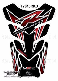 Yamaha-YZF-R1-R6-Black-Red-Motorcycle-Tank-Pad-Motografix-3D-Gel-Protector