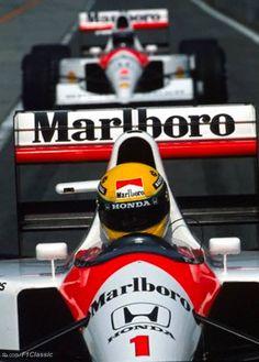 Ayrton Senna e Alain Prost - Mclaren