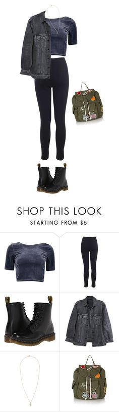 """Untitled #3376"" by weirdestgirlever ❤ liked on Polyvore featuring Miss Selfridge, Dr. Martens, Y/Project, STONE and Topshop"