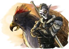 Sketch of my ESO main Tarveth and his gryphon Calian, snapped during their tenure in Elsweyr. Lion Sculpture, Sketch, Statue, Character, Art, Sketch Drawing, Art Background, Drawings, Kunst