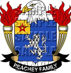 Peachey Family Crest apparel, Peachey Coat of Arms gifts