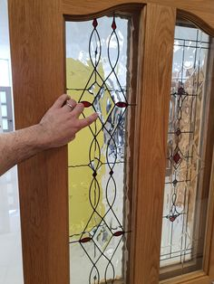 Flemish glass with diamond design resins. Available from our Showrooms in Tramore Clonmel and online Walnut Doors, Oak Doors, Prehung Doors, Composite Door, External Doors, Contemporary Doors, Architrave, Attic Stairs, Attic Conversion