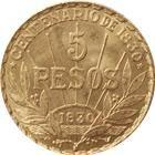 1930 Uruguay 5 Peso Gold Coin (.2501 oz of Gold)